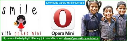 Download Opera Mini to Donate Rs.5 to Smile Foundation to Educate Poor Children in India