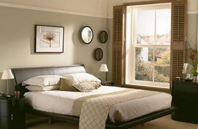 decoración dormitorio muebles chocolate