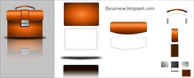 Gambar Desain Vektor Tas Kantor di Inkscape