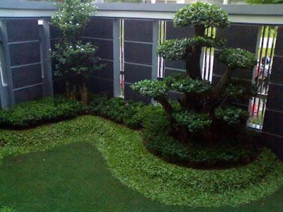 Model taman minimalis