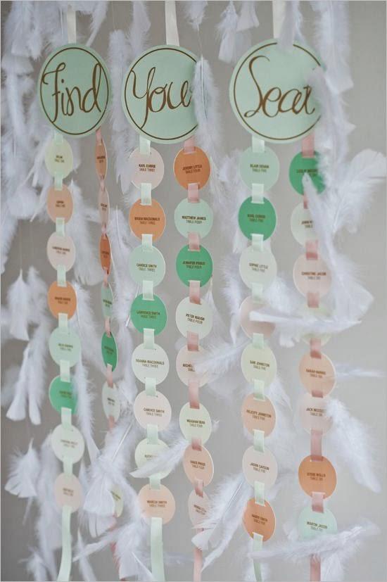 Asignar los asientos en una boda_círculos cartulina