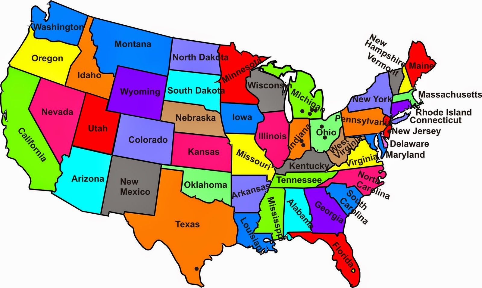 Geography Blog US Maps With States - Map of usa states geography