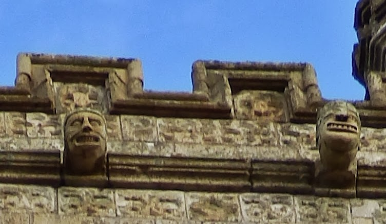 Detail on st Austell Church Tower