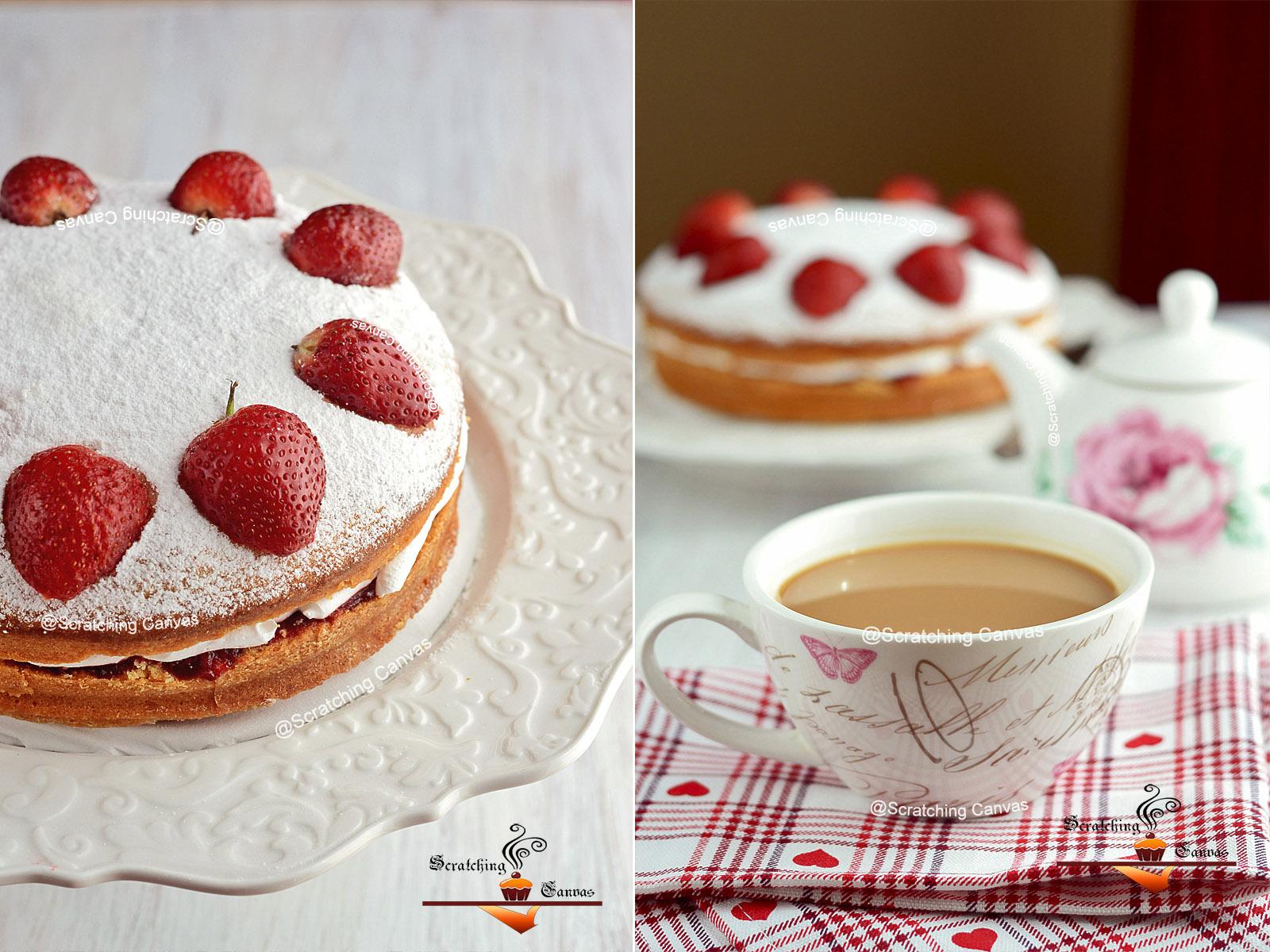 recipe classic victoria sponge sandwich cake british. Black Bedroom Furniture Sets. Home Design Ideas