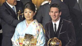 Homare Sawa y Leo Messi, ganadores Balón de Oro 2012