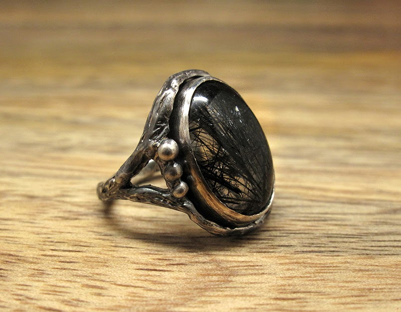 Harlequin&Lionhead handmade sterling silver ring, custom designed for an illustration artist.