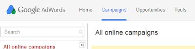 New Google Adwords Design Console