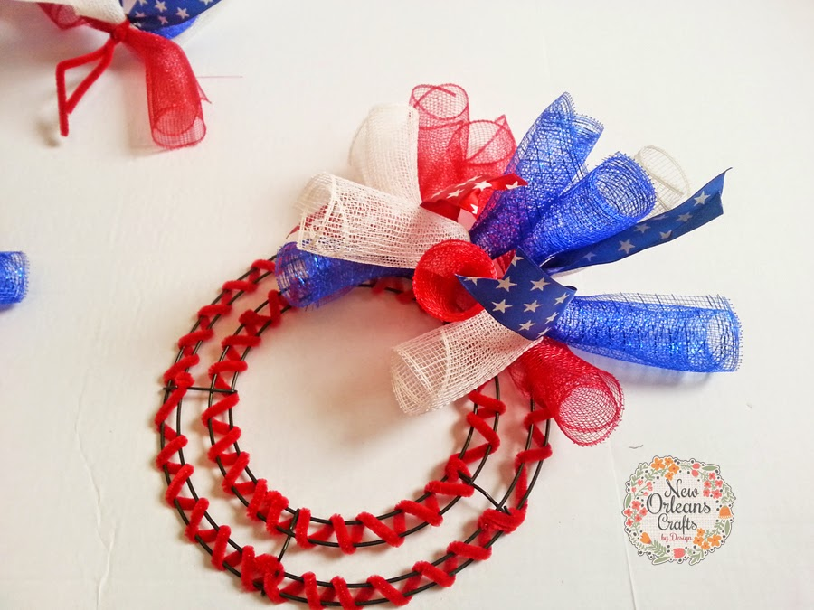 New Orleans Crafts By Design How To Make A Spiral Deco Mesh Wreath
