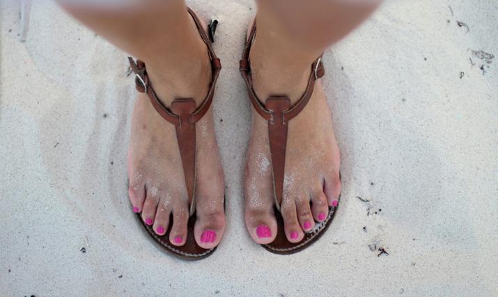 Rondini sandals from Saint Tropez at fashion blog Mes Voyages à Paris, by Mónica Sors