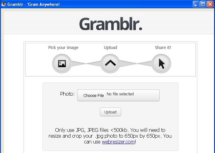 Gramblr, Instagram, dicas, tutorial, como usar o Instagram pelo computador, como postar foto no Instagram pelo computador, programa, baixar
