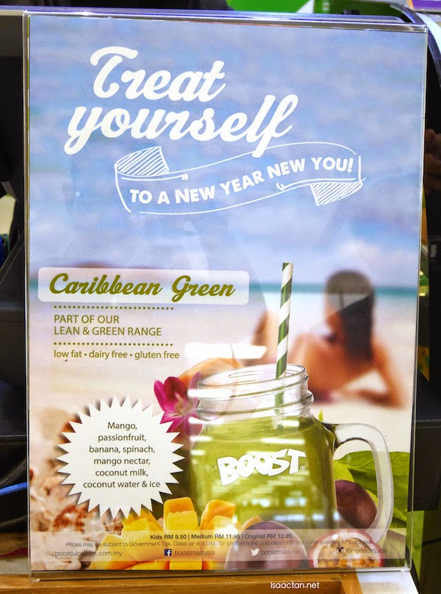 Caribbean Green, part of Boost Juice's Lean and Green Range