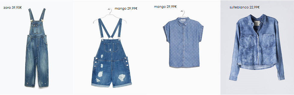 shorts y camisas denim