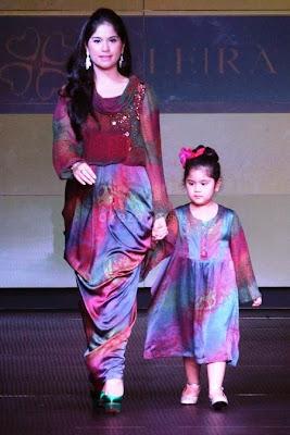 model baju muslim pesta anak perempuan