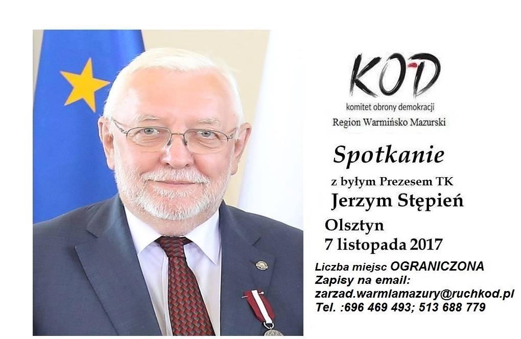 Jerzy Stępień w Olsztynie