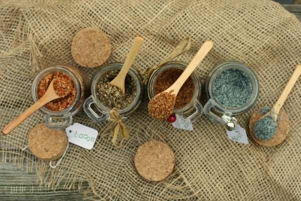 Flavored Sea Salts {DIY} #HandcraftedHolidays at www.girlichef.com