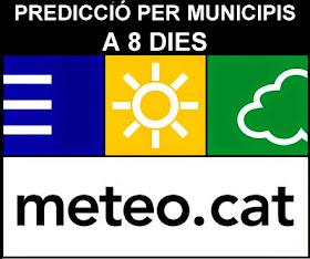 PREVISIÓ METEOCAT MUNICIPIS CATALUNYA