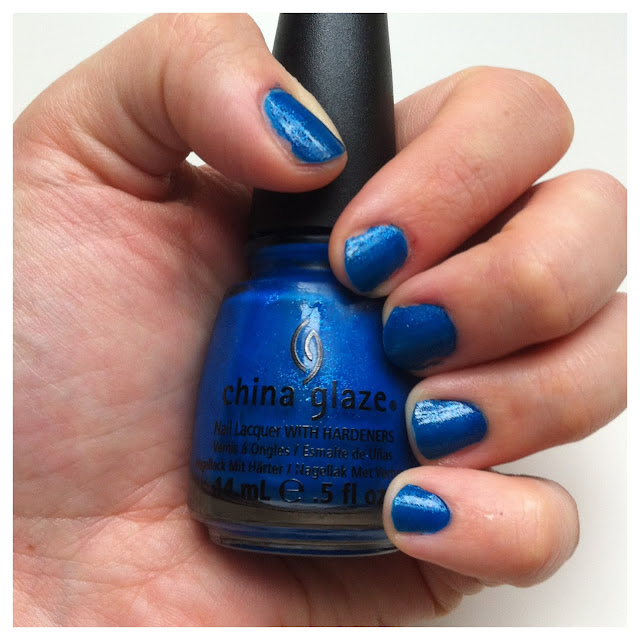 china glaze sparrow, blue, blue nail polish, china glaze blue