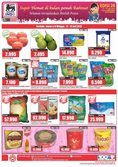 Katalog/Daftar Harga Superindo Minggu ini 1 – 17 Juli 2013
