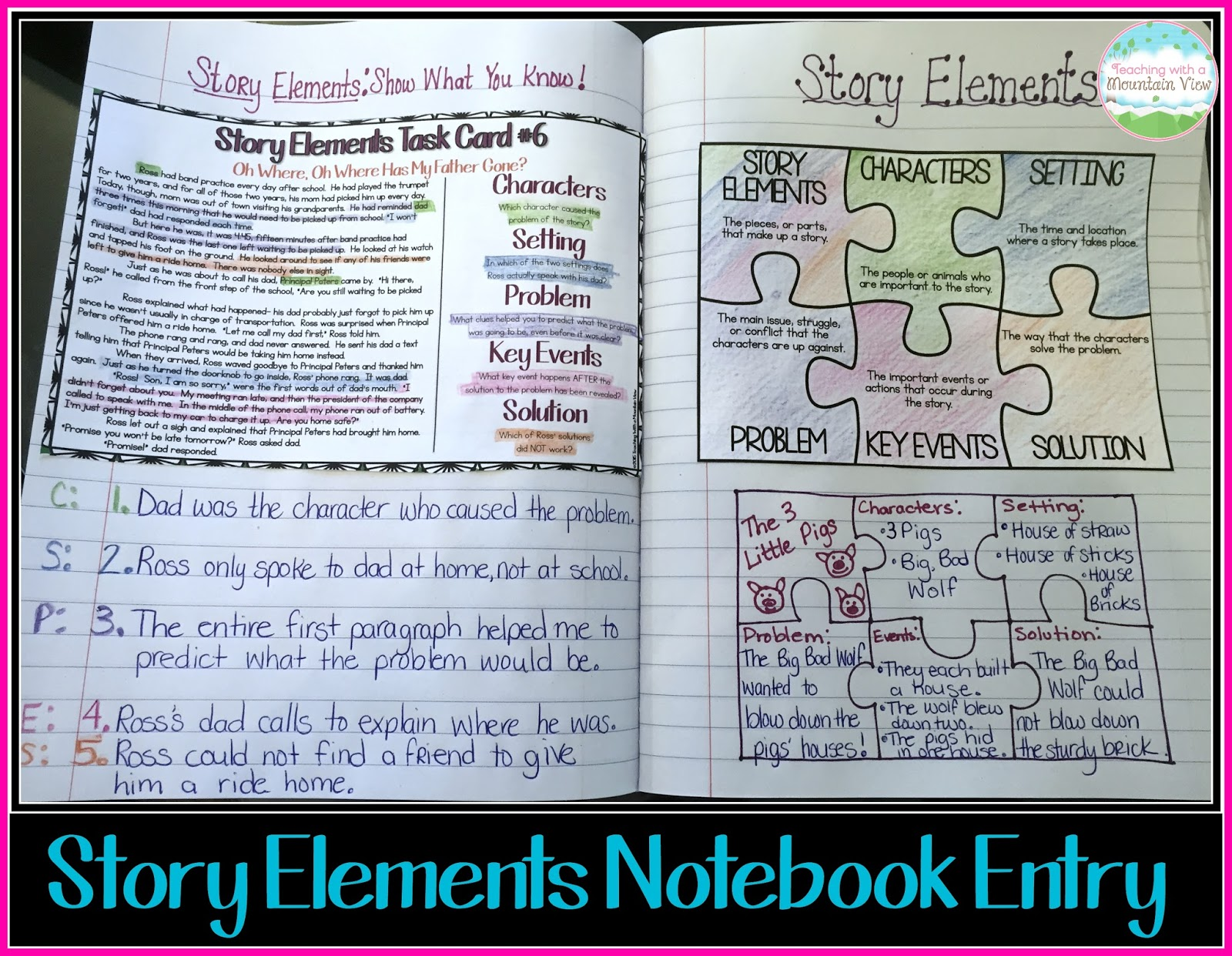 Teaching Story Elements & A WONDER Freebie! | Teaching With a ...