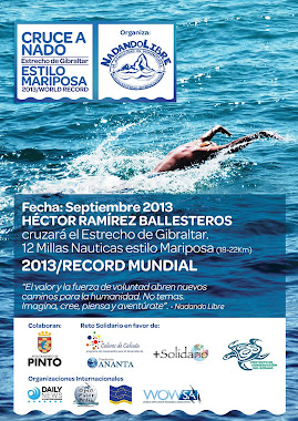 Cruce a nado del Estrecho de Gibraltar estilo Mariposa - 2013 World Record