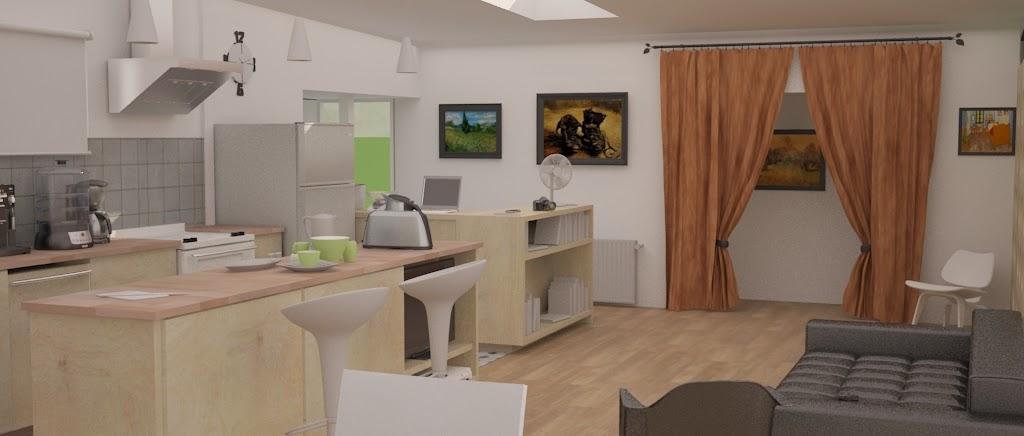 WIP X rendu intérieur X cuisine