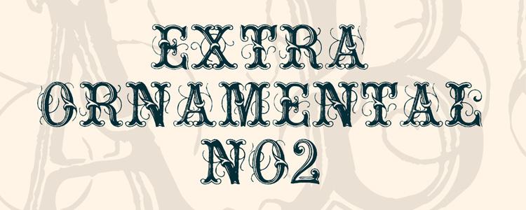 Font Extraornamental no 2