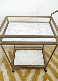 DIY Marble Bar Cart Makeover