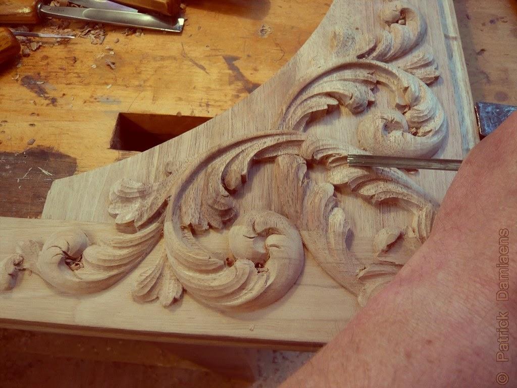 Ornamental woodcarver patrick damiaens: 17th century style wood
