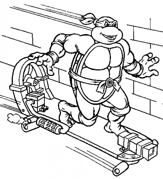Fun coloring pages teenage mutant ninja turtles coloring for Coloring pages turtles ninja