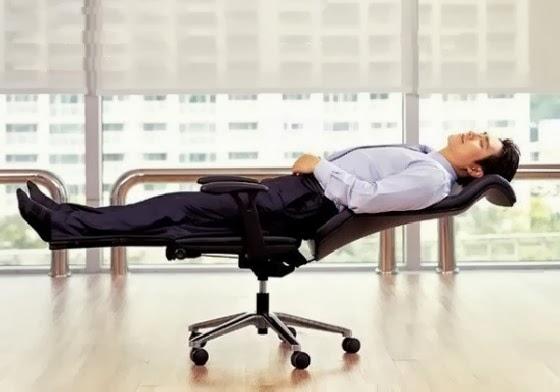 Comfortable Office Worker