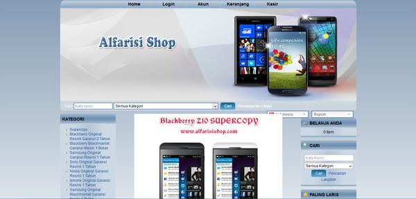 Alfarisishop.com Toko Handphone BM Terpercaya