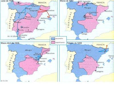 Mapa de la Guerra Civil