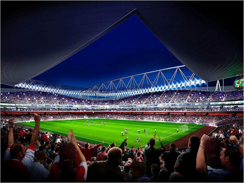 Emirates stadium 1 desktop football wallpaper - Soccer stadium hd ...