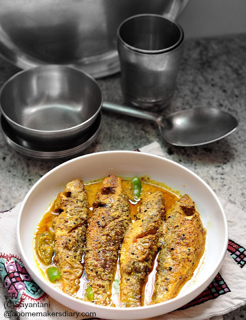 Bata Macher Jhal (Labeo bata in mustard gravy)