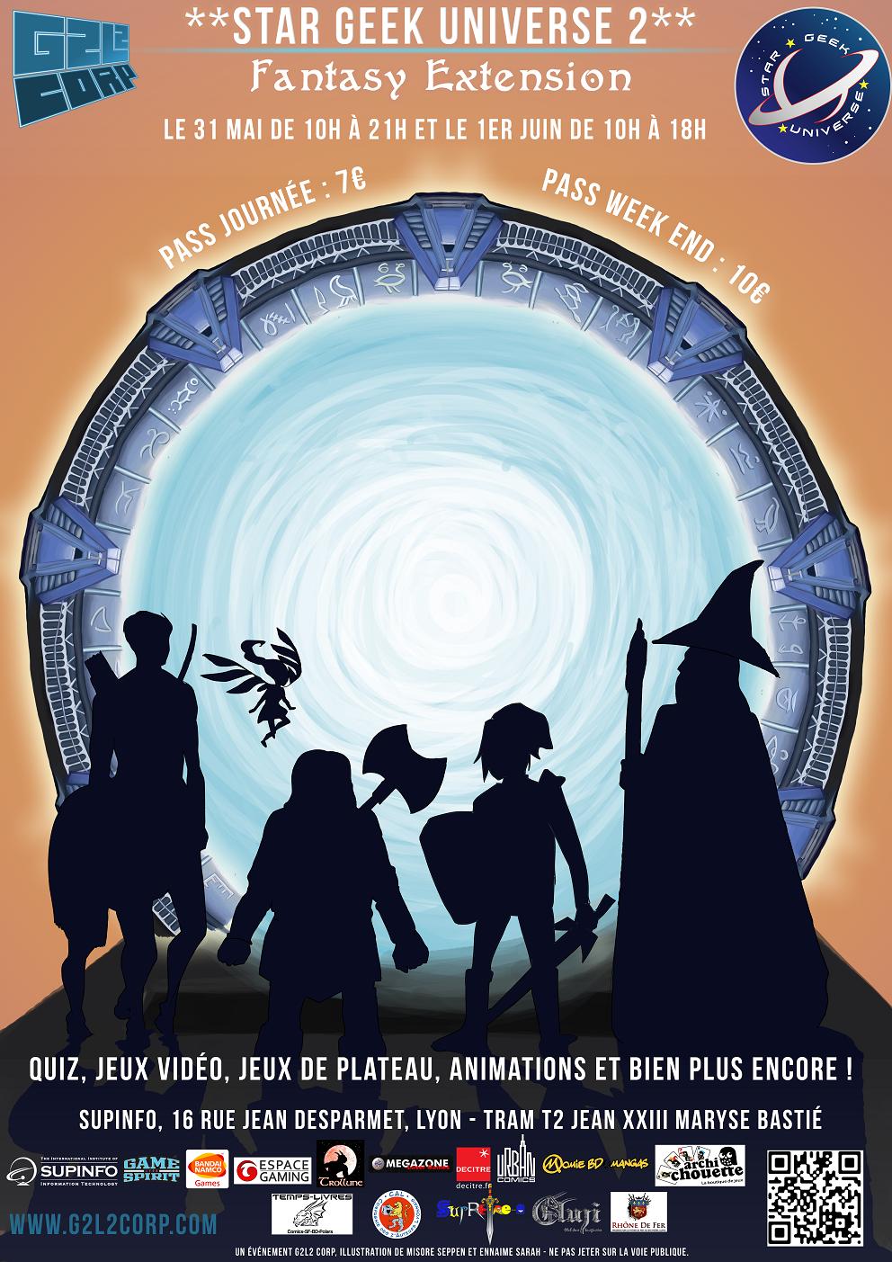 Affiche convention star geek universe