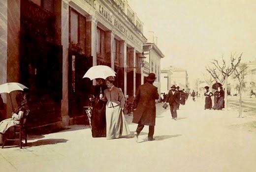 Στην οδό Πανεπιστημίου το 1900