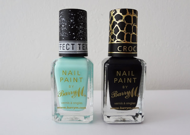 arry M Textured Effect Nails in Ridley Road (left) and the Croc Nail Effects in Black (right).
