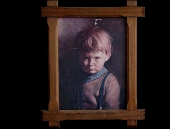 """Bức tranh """"Cậu bé khóc"""" bí ẩn."""