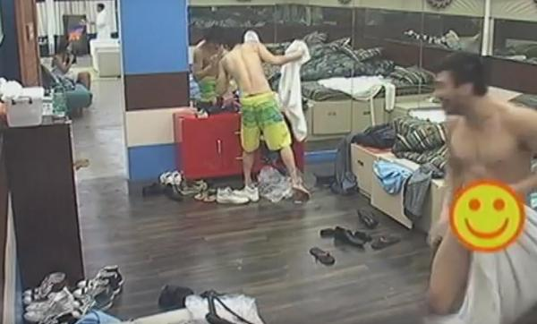 OMG! Drunk PBB 737 housemate accidentally strips off towel exposing his 'thing'