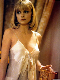 michelle pfeiffer in brian de palma's scarface, mobster's moll