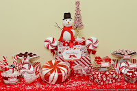 Peppermint Twist Candy Buffet Label Collection