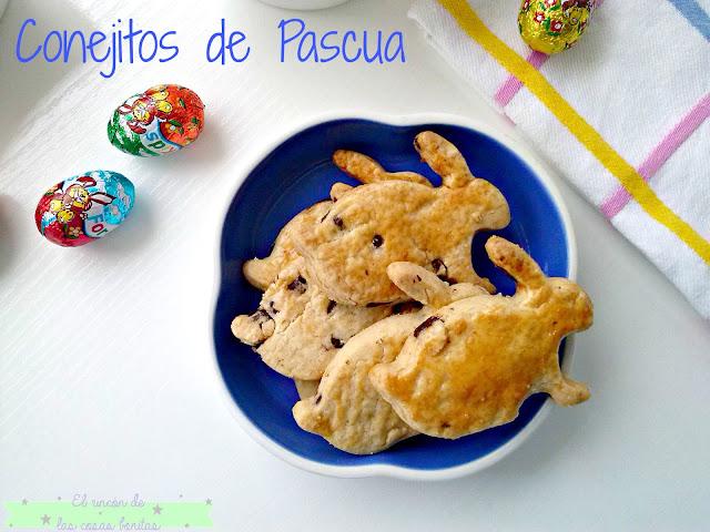galletas pastas conejos pascua
