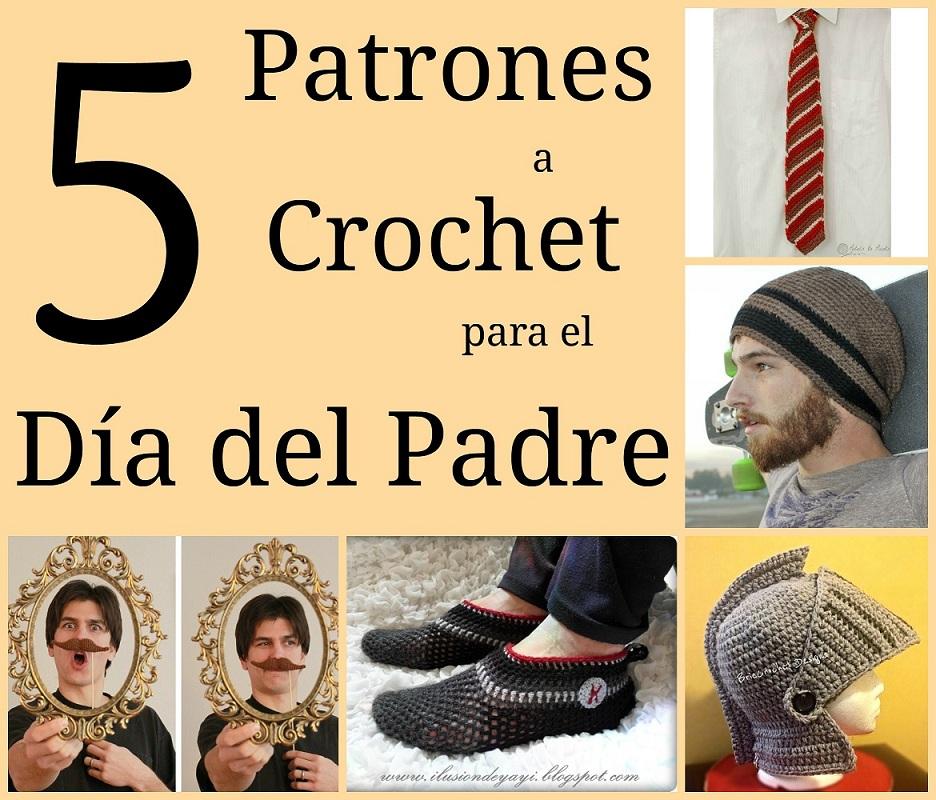 patrones gratis a crochet ganchillo para el dia del padre hombre chico