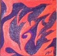 P31 óleo sobre tela peças de 15x15