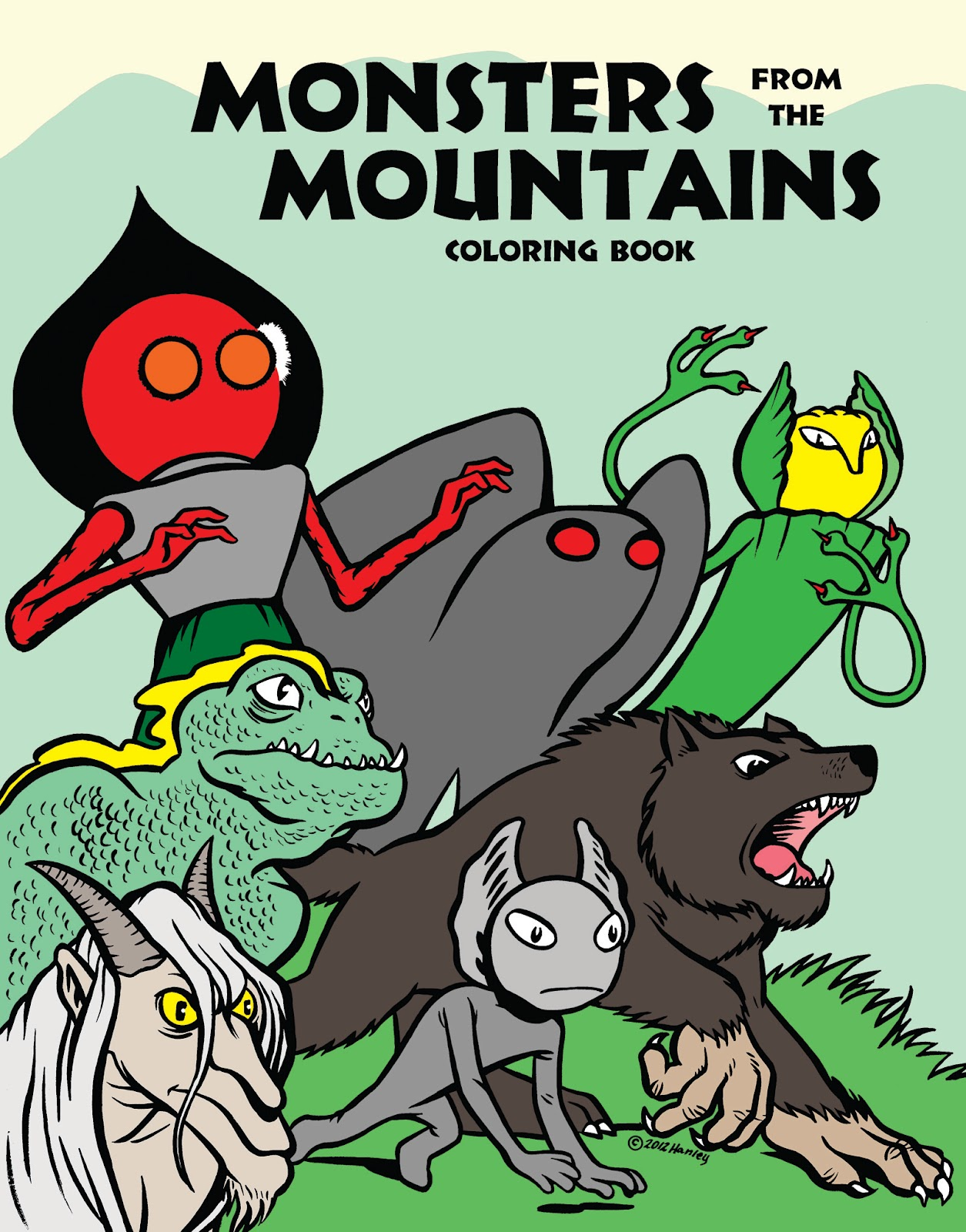monsters from the mountains coloring book