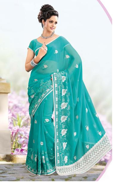 RMKV Embroidery Fancy Sarees