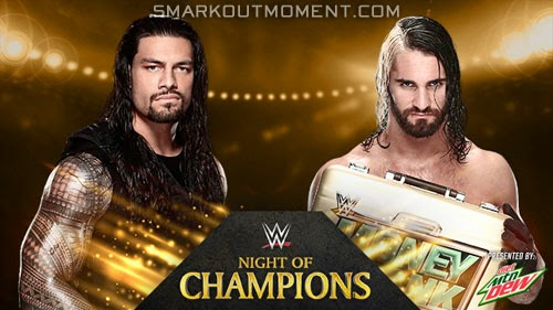 WWE Night of Champions 2014 event Reigns vs Rollins match