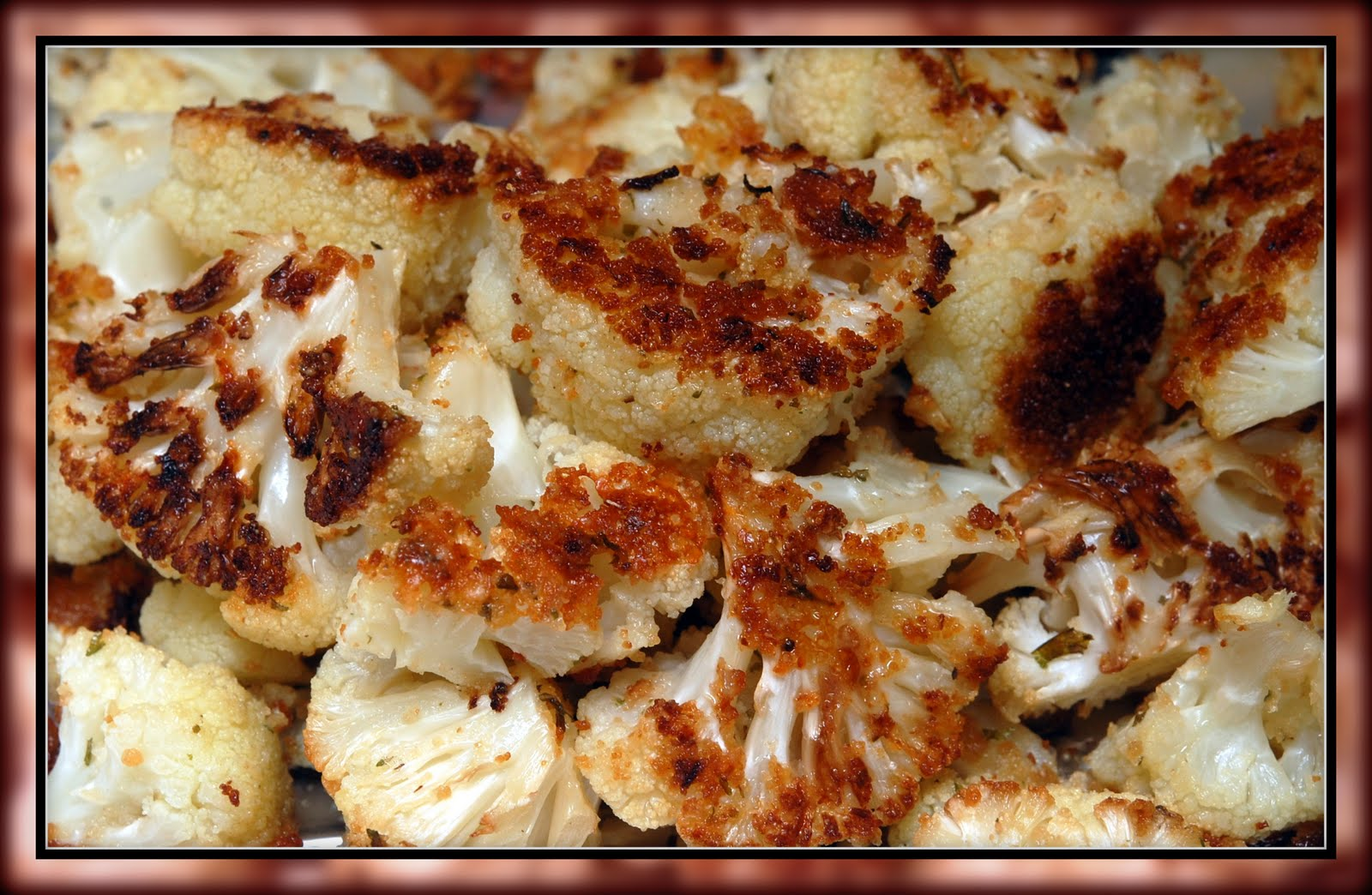 roasted cauliflower with parmesan and bread crumbs 1 head cauliflower ...