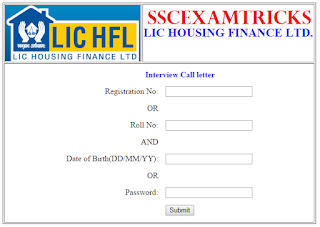 LIC HFL INTERVIEW LETTER 2015