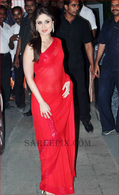 kareena still in manish malhotra's red saree
